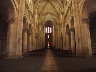 cathédrale st julien - le mans entrée nord
