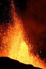 Deurstickers Vulkaan volcan 11