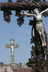 crucifié, cimetière