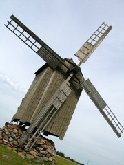 old windmill on saaremaa, estonia