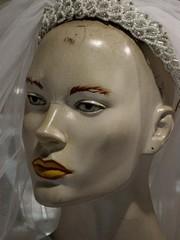 mariée voilée, mannequin