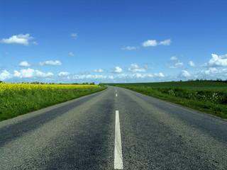 Tuinposter Scandinavië highway in to the horizon