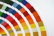 color fan guide closeup