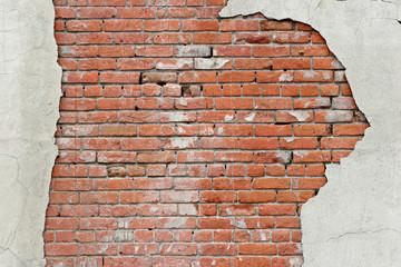 torn brick wall background