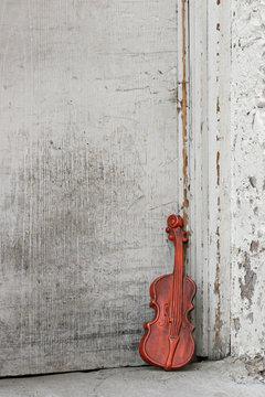 violin by the door