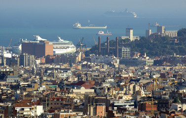 barcelona, from the top