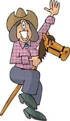 stick horse cowgirl