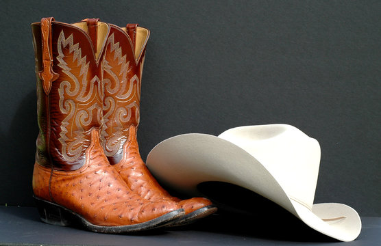 western boots and western hat