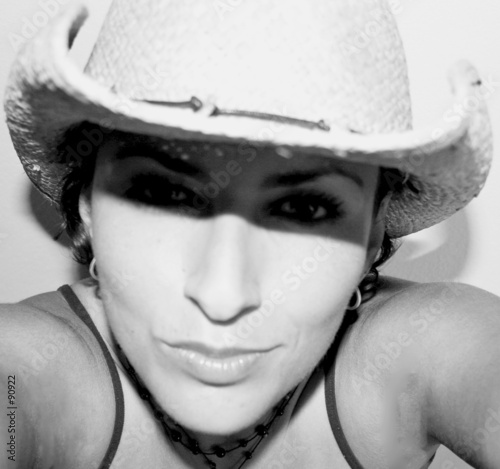 quotselfportrait of a cowgirlquot stock photo and royaltyfree