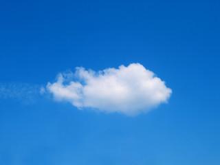 lonely cumulus cloud in the sky