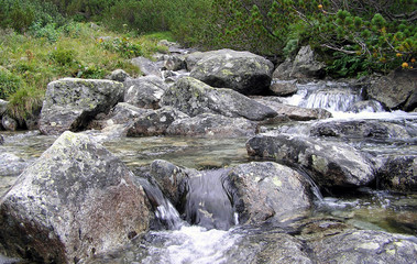 stream in the mountains
