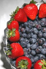 blueberries strawberries