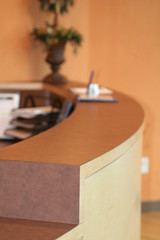 front desk in reception