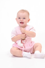 baby on the white background
