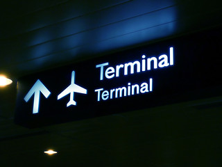 Foto op Canvas Luchthaven terminal sign board