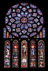Photo sur Plexiglas Vitrail rosace et vitraux