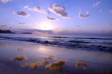 sunrise in the beach