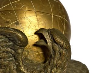 eagle and globe (closeup)
