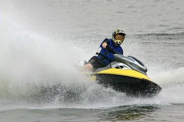 Tuinposter Water Motor sporten jet ski