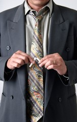 stock photo of man breaking a cigarette