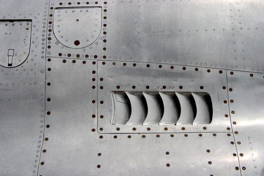 jet airplane skin detail