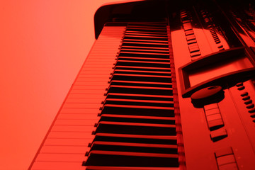 piano in red
