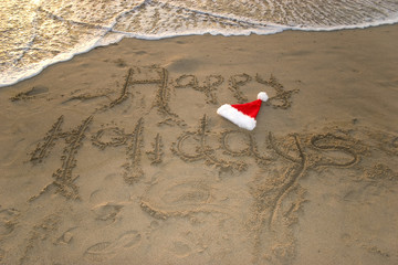 happy holidays on the beach