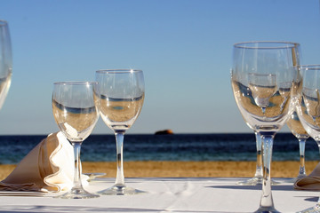 a glass of sea