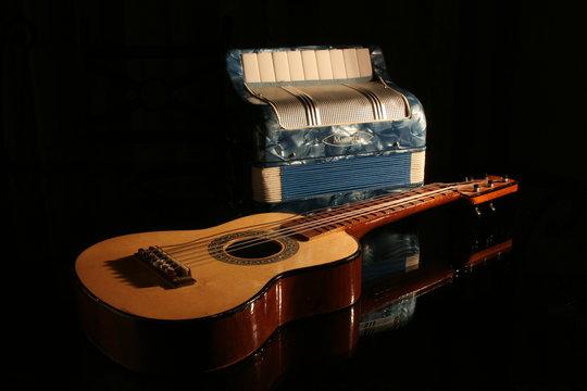acordeon et guitare