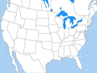 america states map / us states map