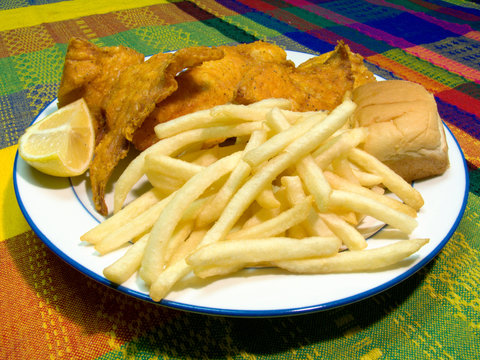lake trout and fries