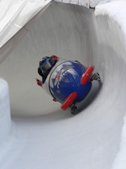 bobsleigh dans un petit virage