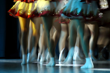 Photo sur Aluminium Carnaval dancing legs