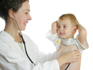 doctor assessing patient by stethoscope 2