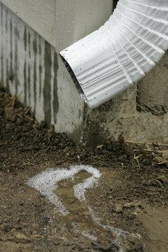 draining rain water