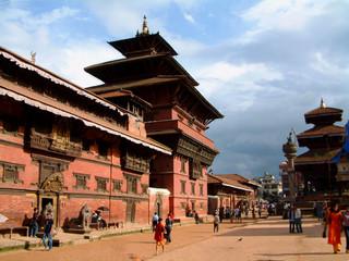 Wall Murals Nepal patan museum and durbar square, patan (lalitpur), nepal