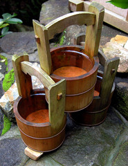 wooden canisters