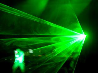 dj concert - laser on the stage