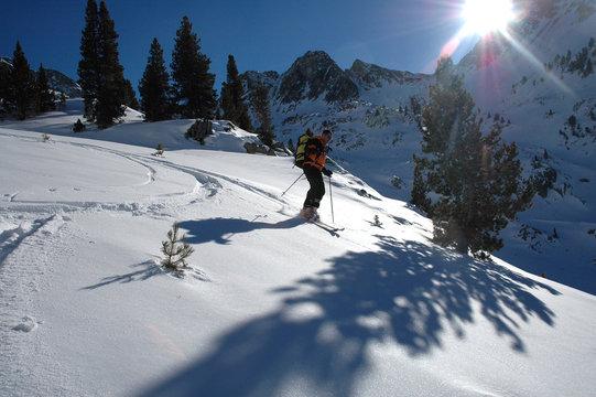le skieur solitaire