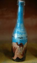 sand art in a bottle