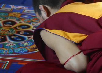 monk making a mandela