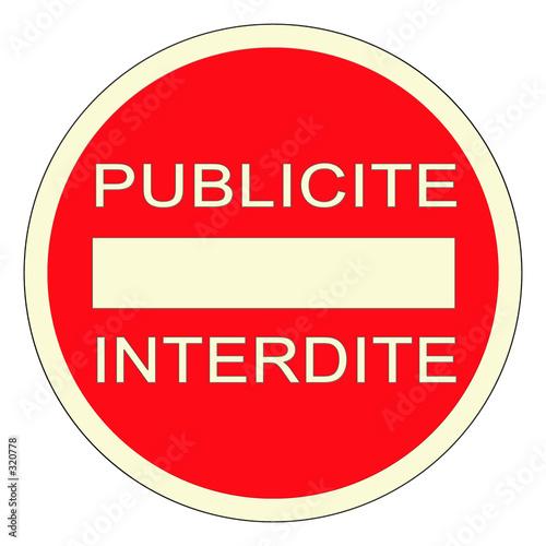 Panneau pub interdite photo libre de droits sur la for Xanax haute dose