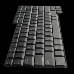 laptop keyboard over black