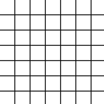 large black grid on white