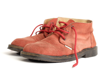 old red boots
