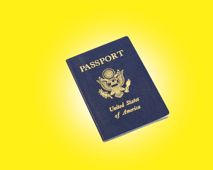 passport, with yellow background