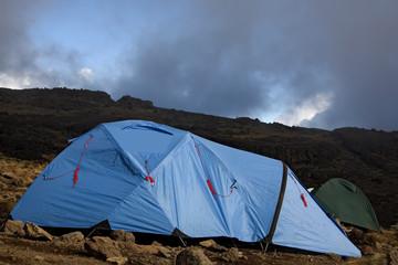 Fotorolgordijn Paardebloemen en water kilimanjaro 017 karango camp tent