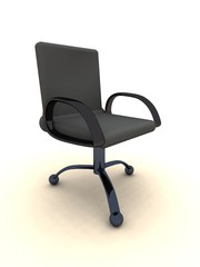 office chair - black leather