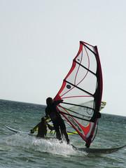 Surfista en Tarifa, Cádiz, Andalucía, España