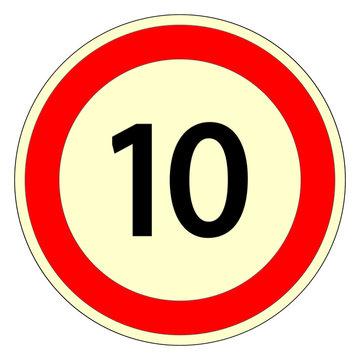 vitesse limitée à 10 km/h